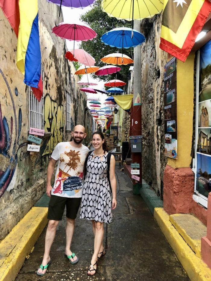 Die Altstadt von Cartagena ist bunt und wuselig