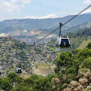 Metrocable über Medellín