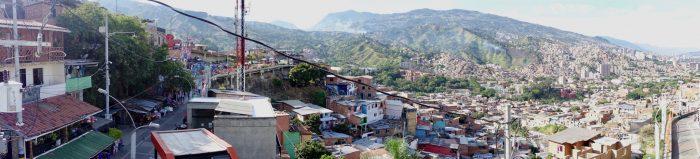 Ein Blick über das ehemals gefährlichste Vierte Medellíns