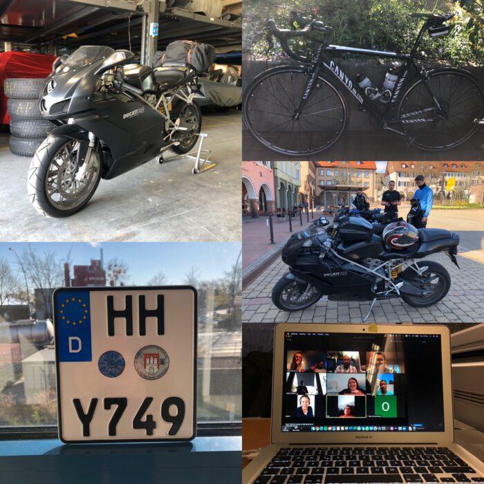Motorrad und Rennrad